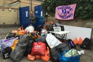 Donations of clothing to the camp in Calais
